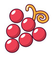 grapes icon cartoon style vector image