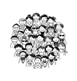 Group of people for your design vector image
