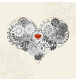 heart with gears background for your vector image