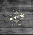 Hunting badges logos and labels for any use vector image