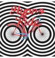 hypno ride - hand lettering with bicycle vector image