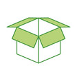 open cardboard box safety concept icon vector image