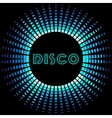 Retro disco background with soundwave frame vector image