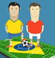 World soccer championship in Brazil vector image vector image