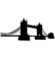 Bridge tower silhouette vector image
