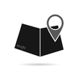maps icon with pointer vector image
