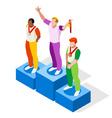 Winner Podium 2016 Sports Isometric 3D vector image