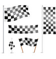 Checkered flags pictograms collection vector image