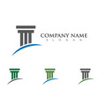 column logo template vector image