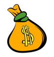 money bag with us dollar sign icon icon cartoon vector image