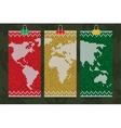 rastafari world map business cards set vector image