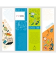 School education icons infographic banners vector image