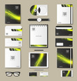 set of mock-ups of corporate style vector image