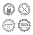 Set of sports emblems in retro style vector image