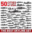 The Best city skyline silhouettes set vector image