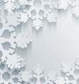 3D Snowflakes Background vector image vector image
