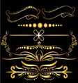Color Gold Vintage Decorations Elements Flourishes vector image vector image