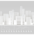 Paper city vector image