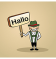 Hello from germany people vector image vector image