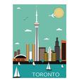 Toronto city vector image