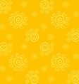 Yellow Solar Pattern vector image vector image