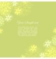 Vintage floral green background vector image