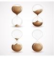 Hourglass decorative icons set vector image