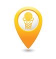 basketball1 MAP pointer yellow vector image