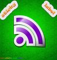 Wifi Wi-fi Wireless Network icon sign Symbol chic vector image