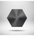 Black Abstract polygon Button Template vector image