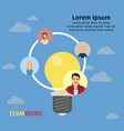 business team working concept vector image