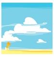 cartoon landscape clouds vector image