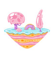 game candy and cake island vector image