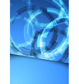 Gear folder blue abstraction vector image