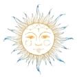 Hand drawn sun vector image