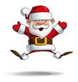 Happy Santa Jumping with Open Hands vector image