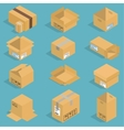 Isometric moving box vector image