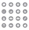 web icon set 4 on gray circle vector image
