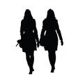 woman beauty black silhouette vector image