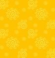 Yellow Solar Pattern vector image