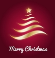 Elegant gold Christmas tree with glow vector image vector image