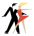 Dancing couple vector image vector image
