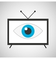 screen tv movie watching vector image
