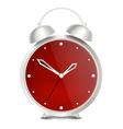 Steel modern alarm clock vector image vector image