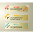 Set of classic banners vector image vector image