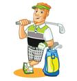 Golfer Cartoon vector image vector image