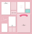 Collection of romantic paper design vector image