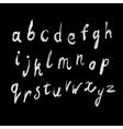 white color handdrawn alphabet vector image