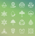 Ecology and organic icons vector image