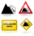 Avalanche signs vector image vector image